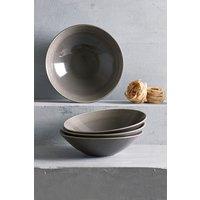 Next Set of 4 Kala Pasta Bowls - Brown