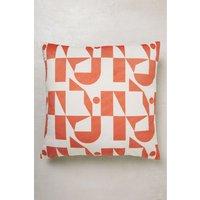 Next Irregular Geo Velvet Cushion - Orange