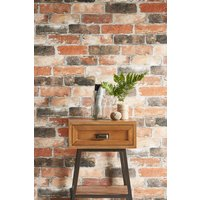 Next Paste The Paper Tonal Bricks Wallpaper - Orange
