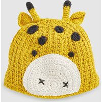 Boys Next Yellow Giraffe Knit Hat (0mths-2yrs) - Yellow