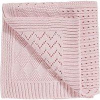 Girls Next Pink Knitted Blanket (Newborn) - Pink
