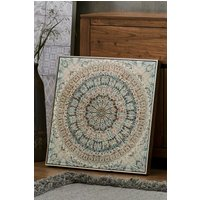 Next Framed Kaleidoscope Studded Canvas - Grey