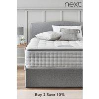 Next 3600 Pocket Sprung Luxury Natural Pillow Top Medium Mattress - White