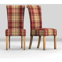 Next Set Of 2 Woodford Dining Chairs - Red