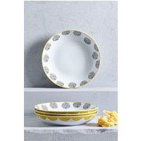 Next Set of 4 Pendle Pasta Bowls - Yellow