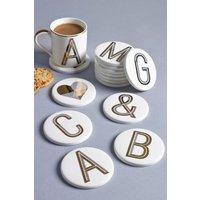 Next Alphabet Coaster - Gold