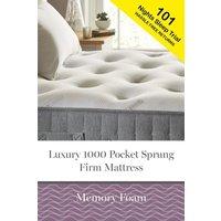 Next 1000 Pocket Sprung Luxury Memory Foam Firm Mattress - White