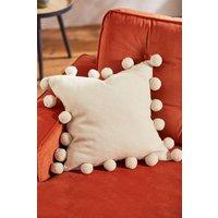 Next Pom Pom Edge Cushion - Natural