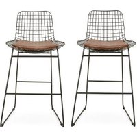 Next Set Of 2 Marcy Bar Stools - Black