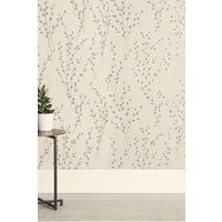 Next Paste The Wall Glitter Willow Wallpaper - Silver