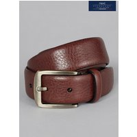 Mens Next Brown Signature Collaboration Italian Leather Formal Belt - Brown