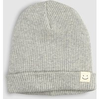 Boys Next Grey Badge Beanie (Younger) - Grey