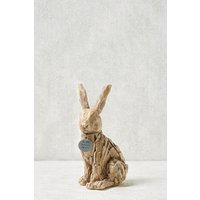 Next Driftwood Effect Bunny Hanging Decoration - Brown