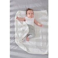 Next White Knitted Blanket (Newborn) - White