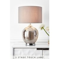 Next Large Drizzle Touch Table Lamp - Grey
