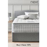 Next 2000 Pocket Sprung Luxury Pillow Top Medium Mattress - White