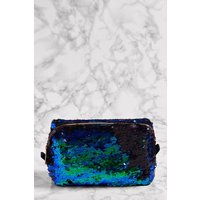 Womens Next Blue Sequin Make Up Bag - Blue