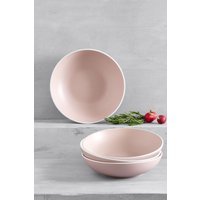 Next Set of 4 Hutton Pasta Bowls - Pink