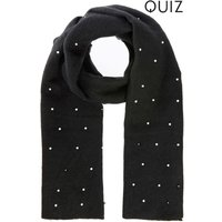 Womens Quiz Pearl Scarf - Black