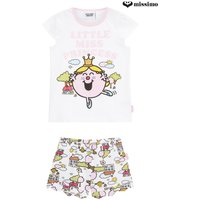 Girls Missimo Girls Little Miss Princess Shorty PJ Set - White