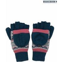 Womens Brakeburn Fair Isle Gloves - Blue