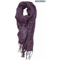 Womens Brakeburn Autumn Leaves Tassel Scarf - Purple