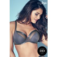 Womens Pour Moi Viva Luxe Underwired Bra - Grey