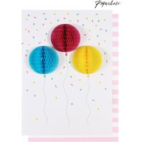 Womens Paperchase Balloons Honeycomb Card - No Colour