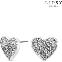 'Lipsy Pave Crystal Stud Earrings - One Size -