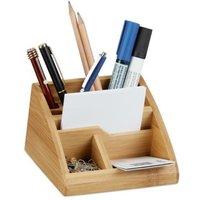 relaxdays Bambus Schreibtisch-Organizer natur