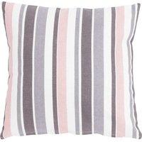 """Linen & More Kissenhülle """"Happy Stripe"""" 45x45 cm rosa/grau Gr. 45 x 45"""
