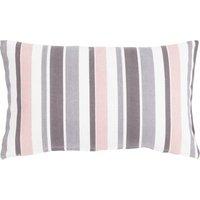 """Linen & More Kissenhülle """"Happy Stripe"""" 30x50 cm rosa/grau Gr. 30 x 50"""