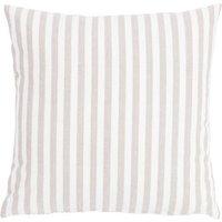 "Linen & More Kissenhülle ""Fine Stripe"" 45x45cm beige Gr. 45 x 45"