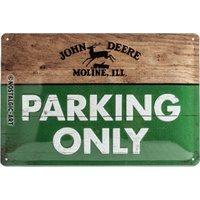 "Nostalgic-Art Blechschild  ""John Deere - Parking Only"" 20 x 30 cm bunt"