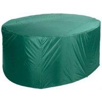 Grasekamp Schutzhülle 210x250cm oval Grün  Sitzgruppe Essgruppe Gartenmöbel  Möbelgruppe grün