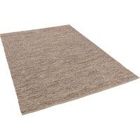 Pergamon Baumwolle Natur Kelim Teppich Easy Meliert braun Gr. 60 x 90