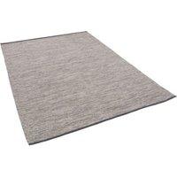 Pergamon Baumwolle Natur Kelim Teppich Easy Meliert grau Gr. 60 x 90