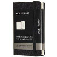 MOLESKINE® Moleskine Visitenkarten Pro Fach XS, Hard Cover, mit 2 Fächern, Schwarz