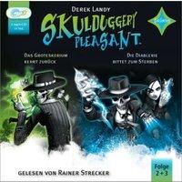 Skulduggery Pleasant - Das Groteskerium schlägt zurück + Die Diablerie bittet zum Sterben, 2 Audio-CD, MP3 Hörbuch