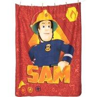 Herding Kuscheldecke Feuerwehrmann Sam, 130 x 160 cm rot
