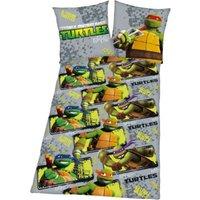 Herding Kinderbettwäsche Turtels, Renforcé, 135 x 200 cm grau