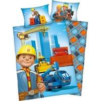 Herding Wende- Kinderbettwäsche Bob der Baumeister, Renforcé, 100 x 135 cm blau