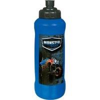 SCOOLI Trinkflasche Monster Truck, 450 ml blau-kombi