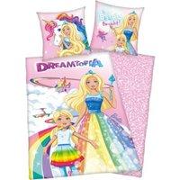 Herding Wende- Kinderbettwäsche Barbie Dreamtopia, Rencorcé, 135 x 200 cm