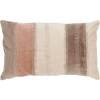 """Linen & More Kissenhülle """"Velvet Stripe"""" Samt 30x50 cm beige Gr. 30 x 50"""