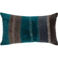 """Linen & More Kissenhülle """"Velvet Stripe"""" Samt 30x50 cm blau Gr. 30 x 50"""