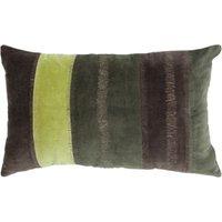 """Linen & More Kissenhülle """"Velvet Stripe"""" Samt 30x50 cm grau/gelb Gr. 30 x 50"""