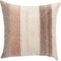 """Linen & More Kissenhülle """"Velvet Stripe"""" 50x50 cm beige/rosa Gr. 50 x 50"""