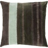 "Linen & More Kissenhülle ""Velvet Stripe"" 50x50 cm grün/beige Gr. 50 x 50"