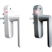 Schellenberg Funk-Alarmgriff für Fenster, SmartHome Fenstergriff mit integrierter Sirene, weiß oder